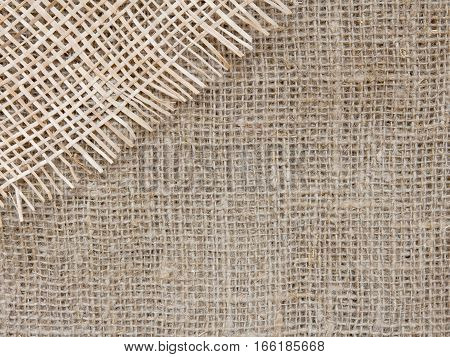 Natural background old vintage rustic old style of eco material