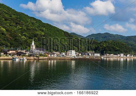 Sakitsu Church And Blue Sky In Amakusa , Kyushu, Japan
