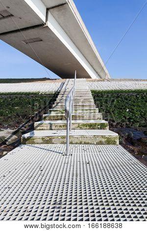 This bridge is the longest bridge in the Netherlands over the sea