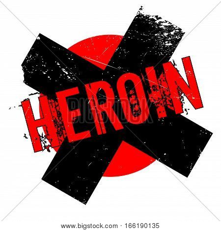 Heroin rubber stamp. Grunge design with dust scratches. Effects can be easily removed for a clean, crisp look. Color is easily changed.