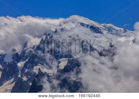 Mont Blanc is the highest mountain of historic Europe (4810 m altitude)