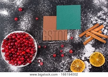 Cranberries With Shugar Powder Dryed Lemon