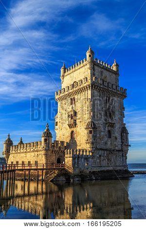 Tower of Belem (Torre de Belem) Lisbon Portugal.