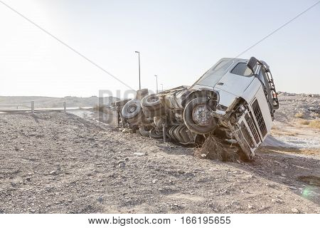 Truck accident in the United Arab Emirates
