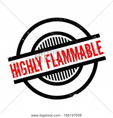 Highly Flammable rubber stamp. Grunge design with dust scratches. Effects can be easily removed for a clean, crisp look. Color is easily changed.