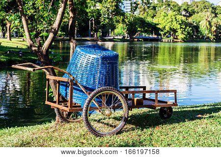 Garden truck at Lumpini Park Bangkok Thailand. Gardening concept