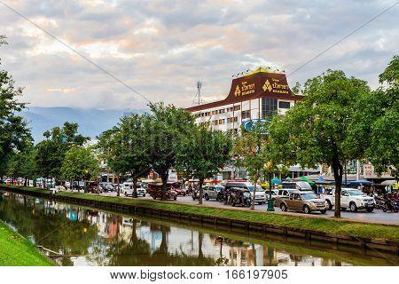 Chiang Mai, Thailand - November 28, 2016 : Chang Phuak Gate