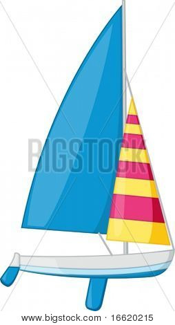 an illustration of a sail boat