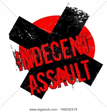 Indecent Assault rubber stamp. Grunge design with dust scratches. Effects can be easily removed for a clean, crisp look. Color is easily changed.
