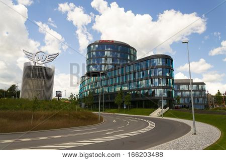 Prague, Czech Republic - June 18: Oracle Company Logo On Headquarters Building On June 18, 2016 In P