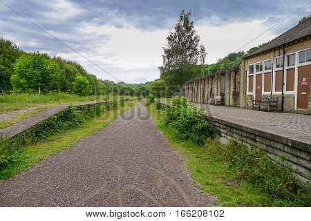 Disused Railway Station on The Monsal Trail, a section of the former railway to link Manchester with London