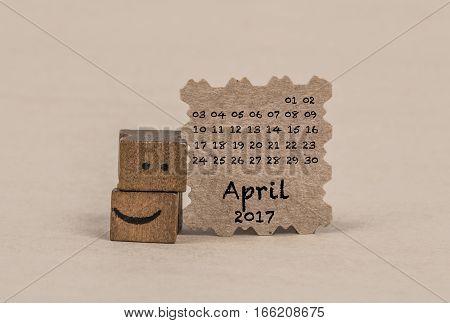 Calendar For April 2017