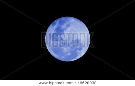 blue moon at night time