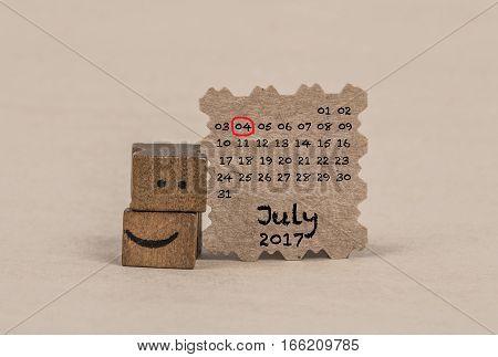 Calendar For July 2017