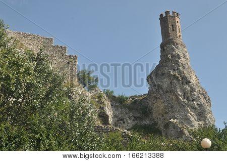 Devin medieval castle on the Danube in Slovakia