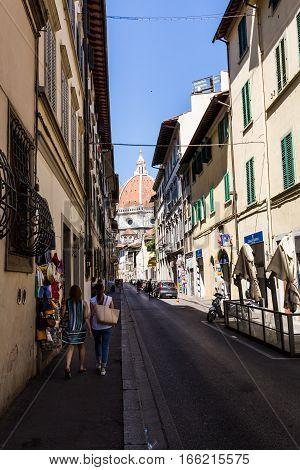 View From The Via Dell Oriuolo Street To The Cattedrale Di Santa Maria Del Fiore