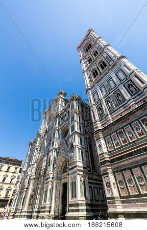 Exterior View Of The Florence Cathedral In Italy