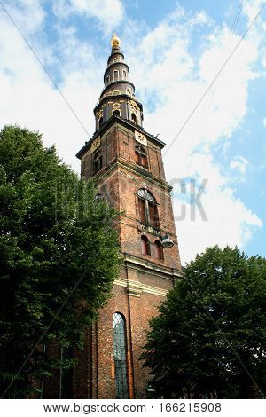 Church of Our Saviour (Vor Frelsers Kirke) in Copenhagen Denmark