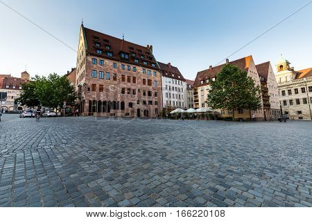 View Of The Frauenkirche In The Old Town Part Of Nurnberg