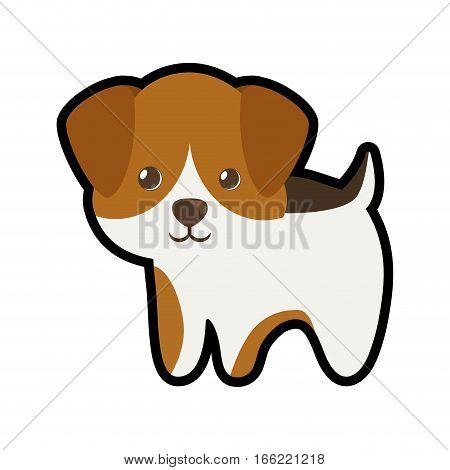 cute puppy little portrait lovely vector illustration eps 10