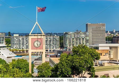 Clocktower at Rocks District in Sydney - Australia, New South Wales