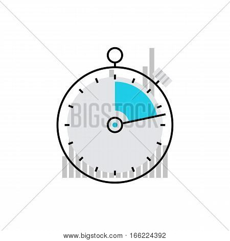 Stopwatch Monoflat Icon.