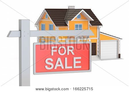 For sale concept 3D rendering isolated on white background