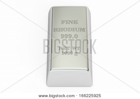 rhodium ingot 3D rendering isolated on white background