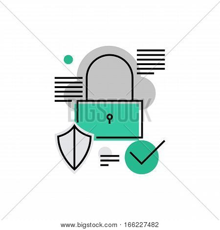 Padlock Monoflat Icon