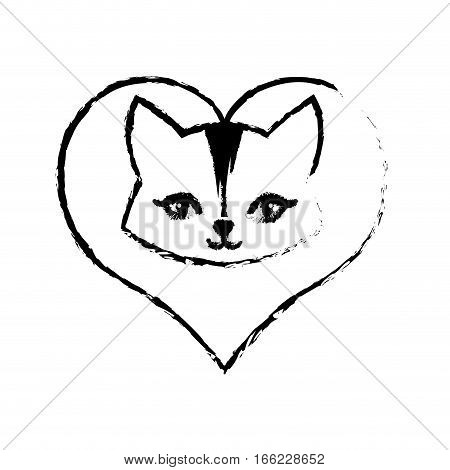 cat animal domestic furry love sketch vector illustration eps 10