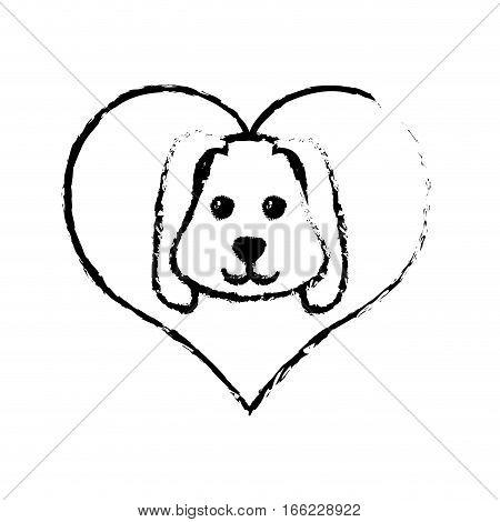 dog animal pet ear long love sketch vector illustration eps 10