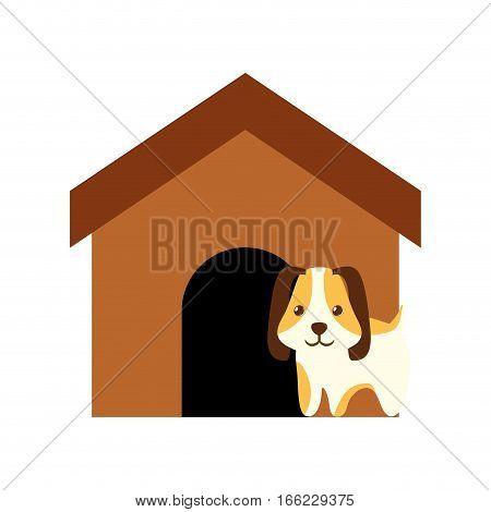 dog animal pet ear long brown house vector illustration eps 10