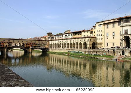The urban landscape of Florence in Italy