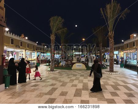 DUBAI, UAE - JAN 11: Saudi Arabia pavilion at Global Village in Dubai, UAE, as seen on Jan 11, 2017. The Global Village is claimed to be the world's largest tourism, leisure and entertainment project.