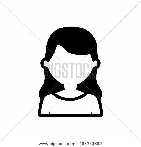 avatar woman employee work outline vector illustration eps 10