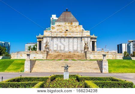 The Shrine of Remembrance in Melbourne - Australia, Victoria