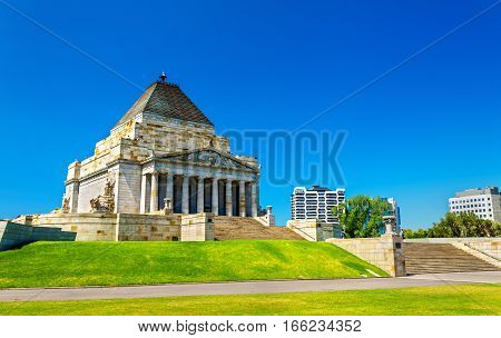 The Shrine of Remembrance in Melbourne - Australia, Victoria