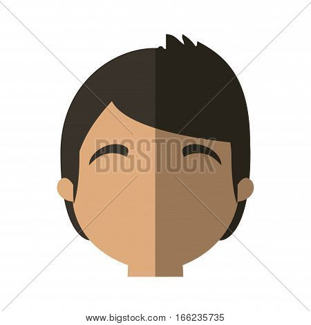 character face man online web profile shadow vector illustration eps 10