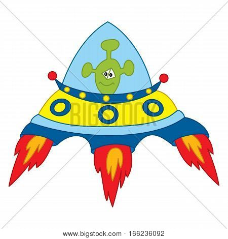 Vector unidentified flying object, UFO, space,  flying saucer