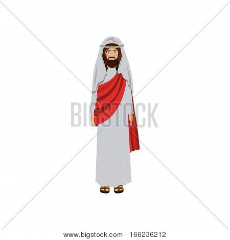 picture of christ with tunic vector illustration