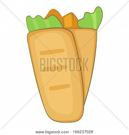 Shawarma icon. Cartoon illustration of shawarma vector icon for web design