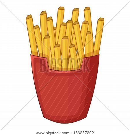 French fries icon. Cartoon illustration of french fries vector icon for web design