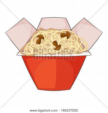 Chinese noodles box icon. Cartoon illustration of chinese noodles box vector icon for web design
