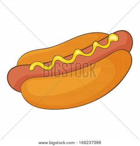 Hot dog icon. Cartoon illustration of hot dog vector icon for web design