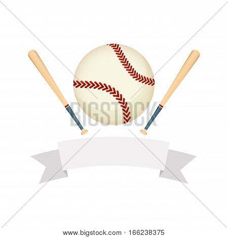 Baseball and bats sport game icon vector illustration graphic design