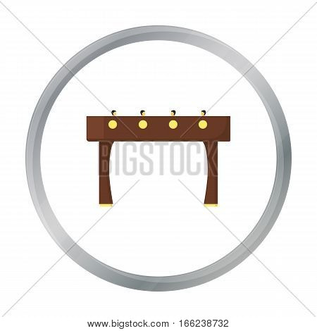 Table football icon in pattern - stock vector