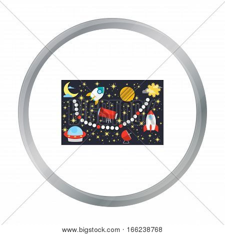 Board game for children icon in pattern - stock vector