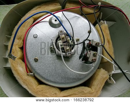 A steel mechanism unit and a wires