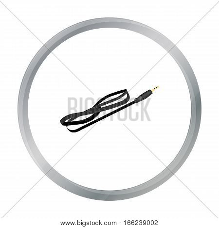 Cable icon in cartoon style isolated on white background. Personal computer symbol vector illustration. - stock vector