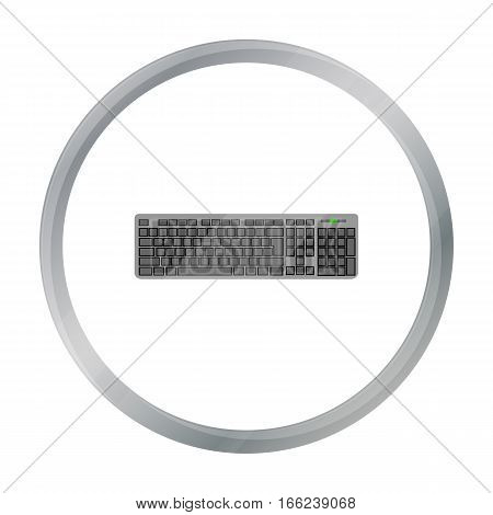 Keyboard icon in cartoon style isolated on white background. Personal computer symbol vector illustration. - stock vector